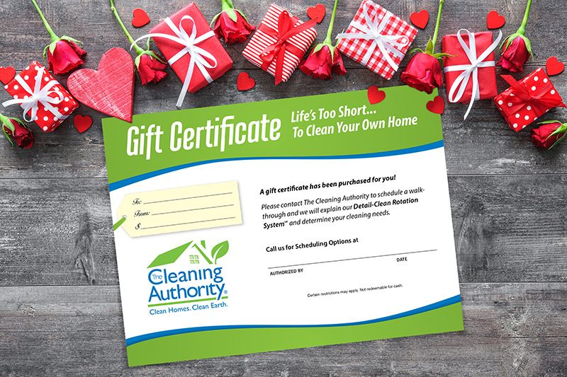 Gift Certificate to Cleaning Authority